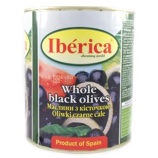 Iberica, 3100 ml, Olives, Black, With a stone, w / w
