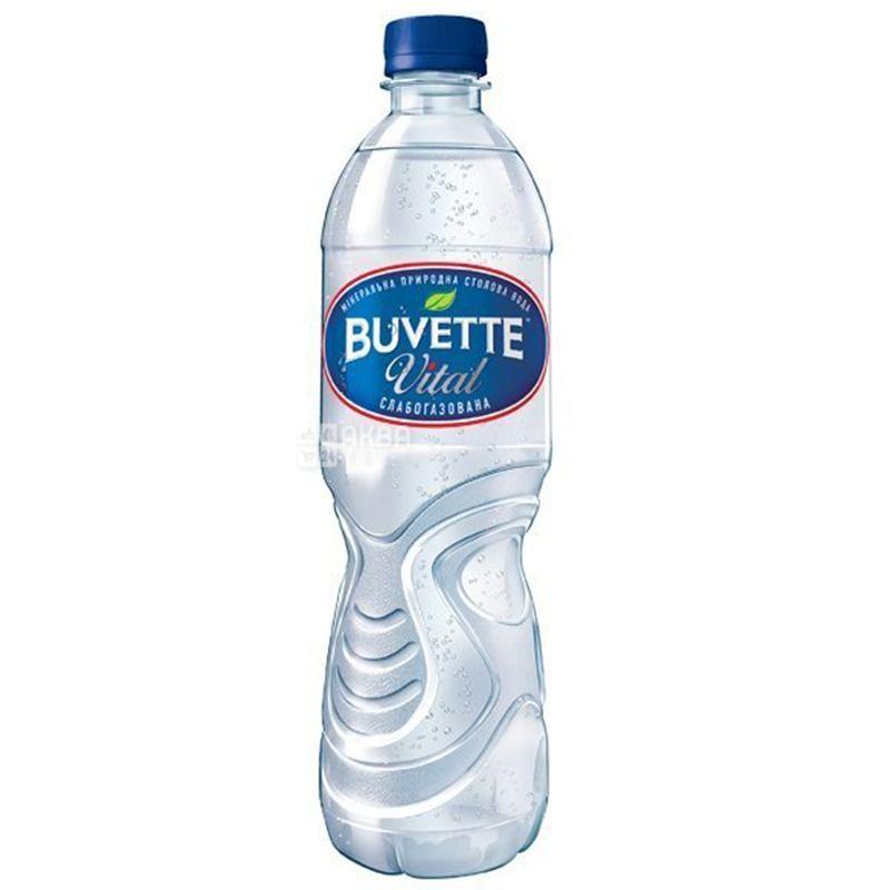 Buvette Vital, 0,5 л, Упаковка 9 шт., Бювет Вітал, Вода мінеральна слабогазована, ПЕТ