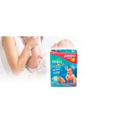 Pampers 3 / 82 шт. Active Baby Midi Jumbo Pack  4-9 кг
