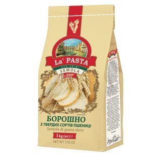 La Pasta, Борошно пшеничне з твердих сортів, 1 кг, Пакет паперовий