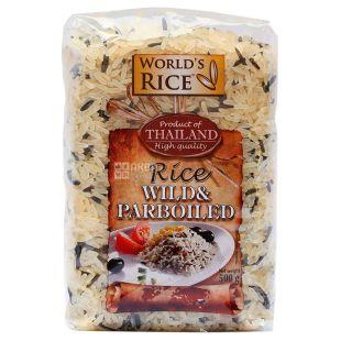 World's rice суміш рису дикий + парбоилд, 500 г, пакет