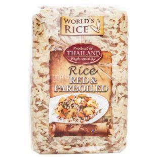 World's rice суміш рису Парбоілд + Червоний, 500 г, пакет