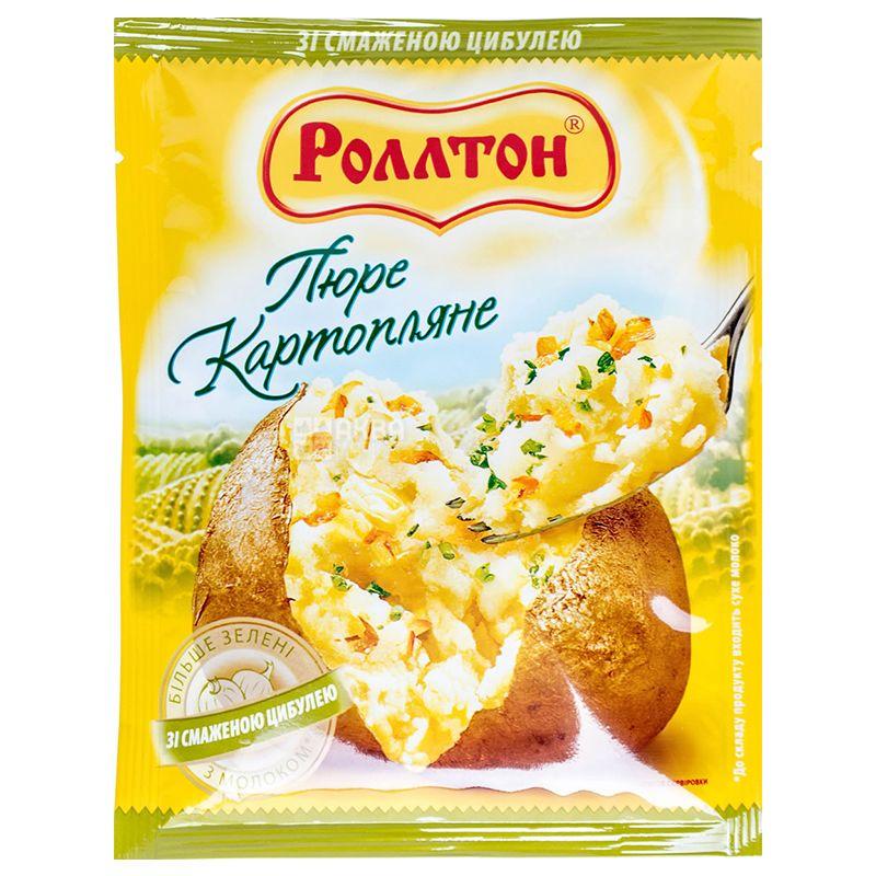 Роллтон Пюре картофельное с жареным луком, 37 г, пакет