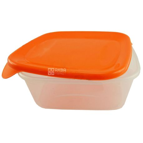 """Container square """"Cascade"""" assorted, 1.2 l, (140x140x54 mm)"""