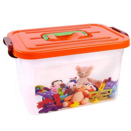 Контейнер «Для іграшок» з вкладишем, асорті, 6,3 л, 190х275х160 мм