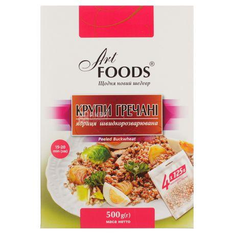 Art Foods, Крупы гречневые, Ядрица быстроразваривающаяся, 4 пак. по 125 г