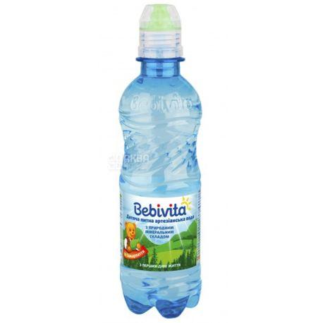 Bebivita, Спорт, 0,33 л, Упаковка 6 шт., Бебівіта, Вода дитяча негазована, з перших днів життя, ПЕТ