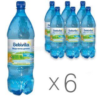 Bebivita, 1,5 л, Упаковка 6 шт., Бебивита, Вода детская негазированная, с первых дней жизни, ПЭТ