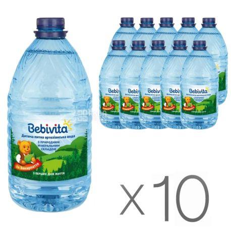 Bebivita, 5 л, Упаковка 10 шт., Бебивита, Вода детская негазированная, с первых дней жизни, ПЭТ