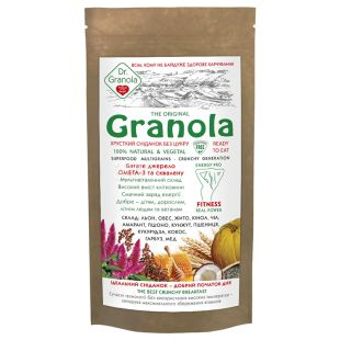 Dr. Granola, 150 г, Сухий сніданок, Гранола, Без цукру, дой-пак