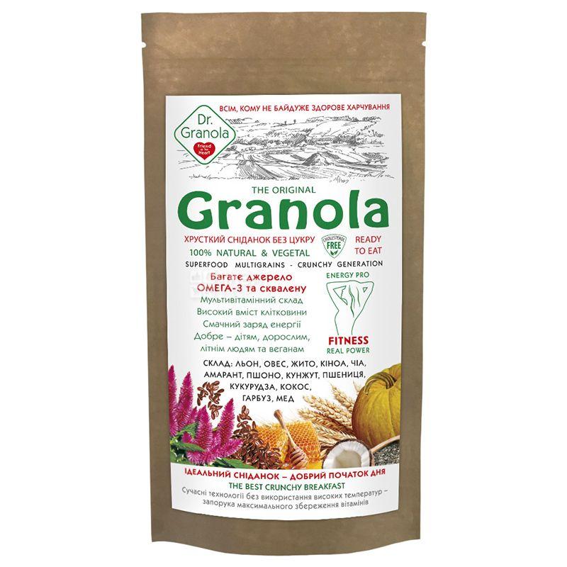 Dr.Granola, The Original, 150 г, Гранола, Ориджинал, злаки и сухофрукты, без сахара