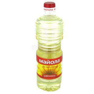 Майола олія соняшникова рафінована, 0,85л, пет бутилка