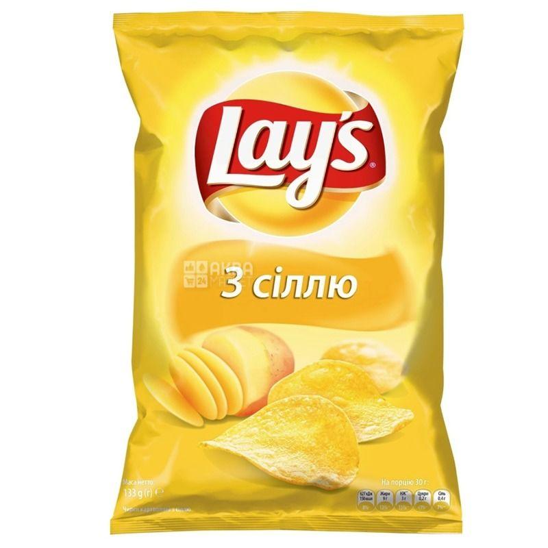 Lay's чипсы с солью, 133г, м/у