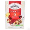 Новоукраїнка, 400 г, Мюсли из 3-х видов злаков, 5 фруктов, орехи, сухой завтрак, быстрого приготовления