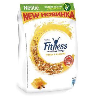 Nestle, 400 г, Fitness, Сухий сніданок, Мед і мигдаль