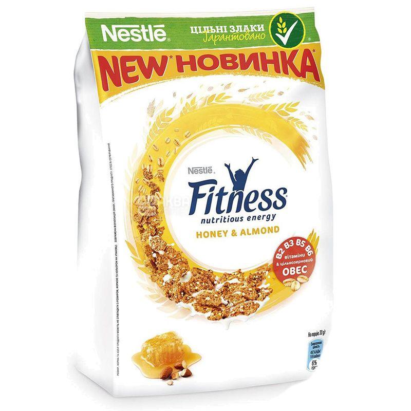 Nestle, 400 г, Fitness, Сухой завтрак, Мед и миндаль