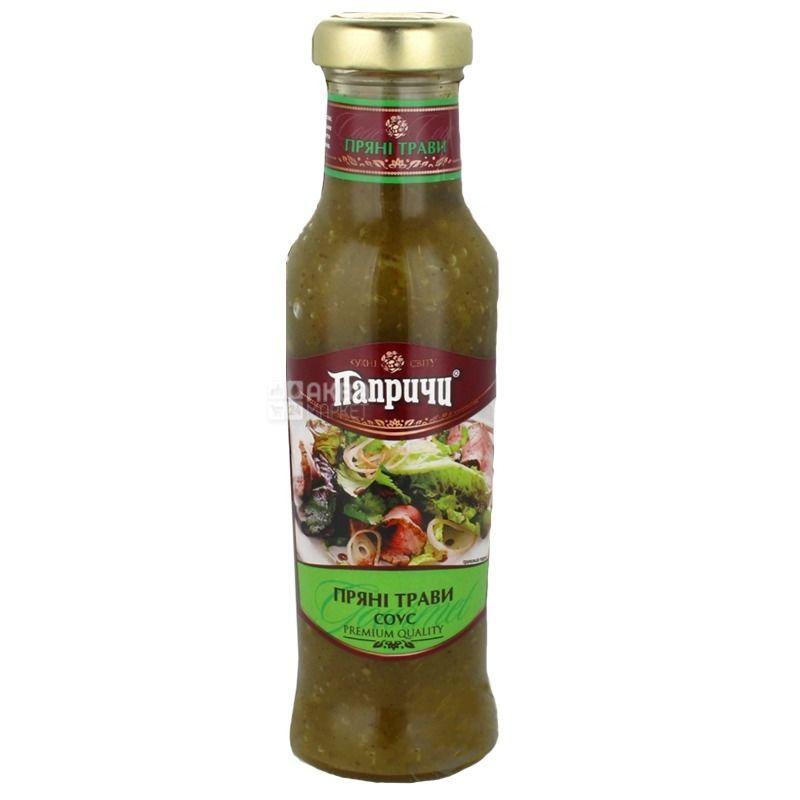 Папричи соус Пряные травы, 310г, стеклянная бутылка