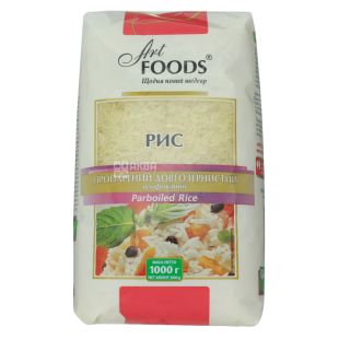 Art Foods, 1 кг, Рис, Довгозернистий, Пропарений, м/у