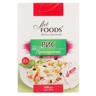 Art Foods, 4×125 г, Рис, Пропарений, Порційний, картон