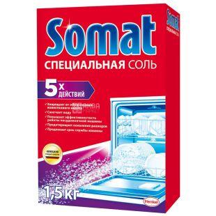 Somat, 1,5 кг, Соль, для посудомоечных машин