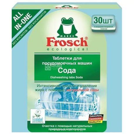 Frosch, 30 шт., таблетки для посудомоечных машин, Сода, м/у
