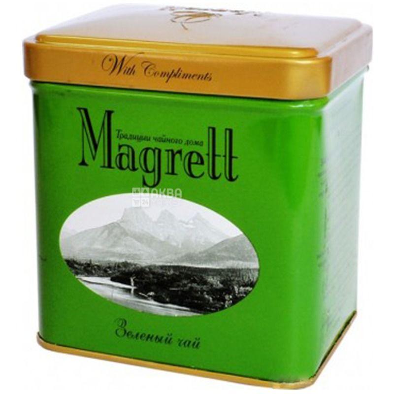 Magrett чай зеленый крупнолистовой, 100г, ж/б