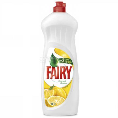 Fairy, 1 л, средство для мытья посуды, лимон