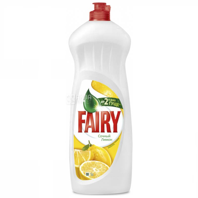 Fairy, 1 liter, dishwashing detergent, lemon