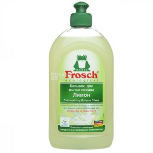 Frosch, 500 мл, бальзам для миття посуду, лимон