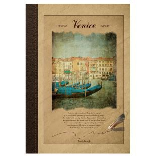 Wound Notebook Eco A4 Venice, cell, 96 l