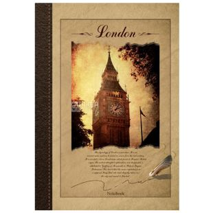 Wound Notebook Eco A4London, cell, 96 l