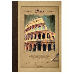 Wound Notebook Eco A4 Rome, cell, 96 l