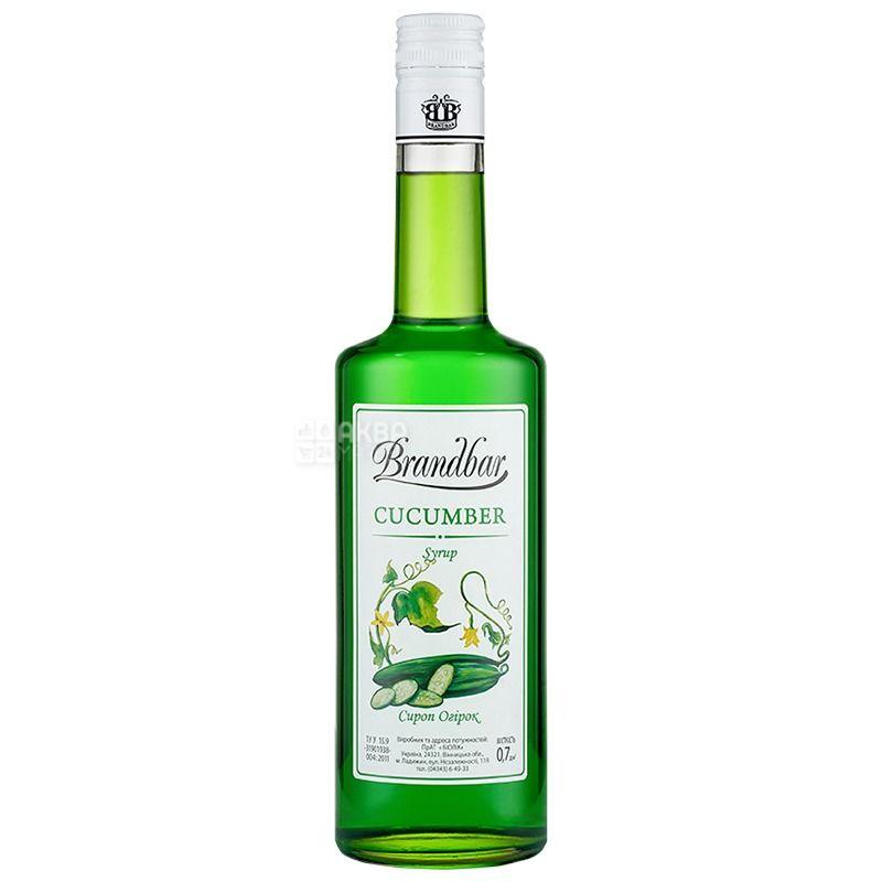 Brandbar, Cucumber, 0,7 л, Сироп Брендбар, Огірок, склo