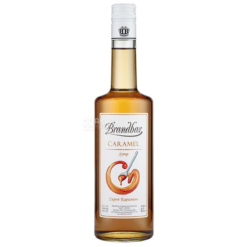 Brandbar Caramel, Cироп Карамель, 0,7 л, стекло