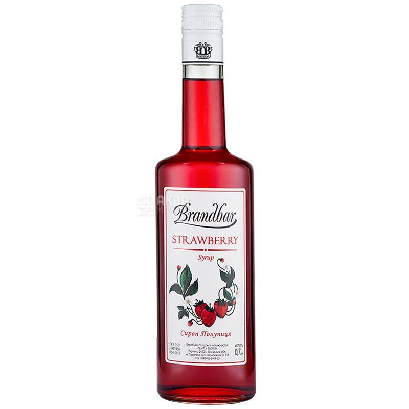 Brandbar, Strawberry, 0,7 л, Cироп Брендбар, Клубника, стекло