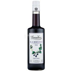 Brandbar, Blackberries, 0,7 л, Сироп Брендбар, Ежевика, стеклo