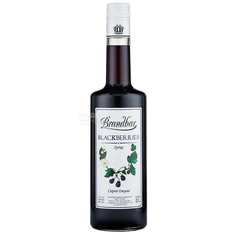 Brandbar, Blackberries, 0,7 л, Сироп Брендбар, Ожина, склo