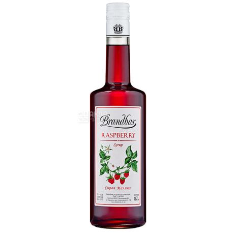 Brandbar, Raspberry, 0,7 л, Сироп Брендбар, Малина, стеклo