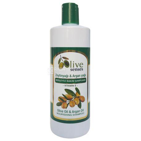 Selesta Senses, Поживний шампунь з оливковою і аргановою олією, 500 мл