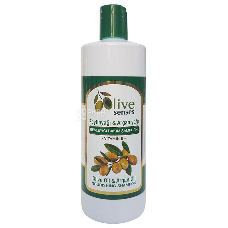 Selesta Senses, Питательный шампунь с оливковым и аргановым маслом, 500 мл