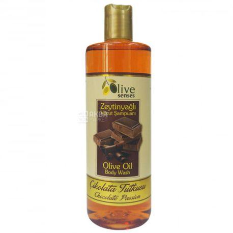 Selesta Senses, Гель для душу з оливковою олією, Шоколад, 500 мл