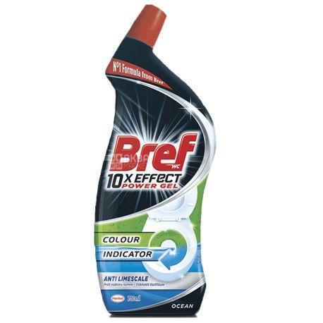 Bref Power Gel, 700 мл, Гель для чистки унитаза 10в1, от известкового налета