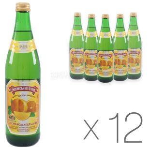 Грузинский Букет, Апельсин, 0,5 л, Упаковка 12 шт., Напиток сильногазированный, стекло