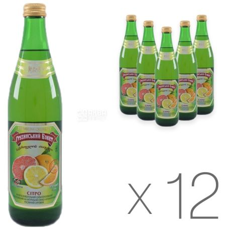 Грузинский Букет, Ситро, 0,5 л, Упаковка 12 шт.,Напиток сильногазированный, стекло