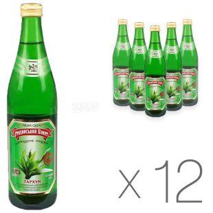 Грузинский Букет, Тархун, 0,5 л, Упаковка 12 шт., Напиток сильногазированный, стекло