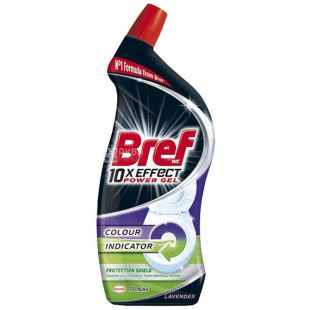 Bref Power Gel, Toilet Cleaner Gel 10 in 1 Total Protection, 700 ml