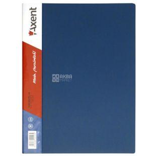Axent, Папка с прижимом синяя прозрачная, формат А4, полипропилен