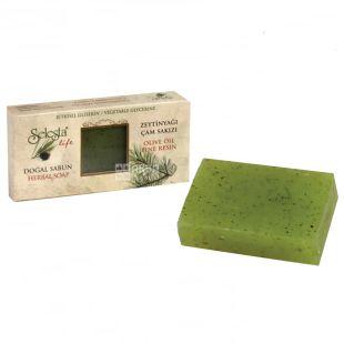 Selesta, Мило природний гліцерин, оливкова олія і хвойна смола, 100 г, Обгортка