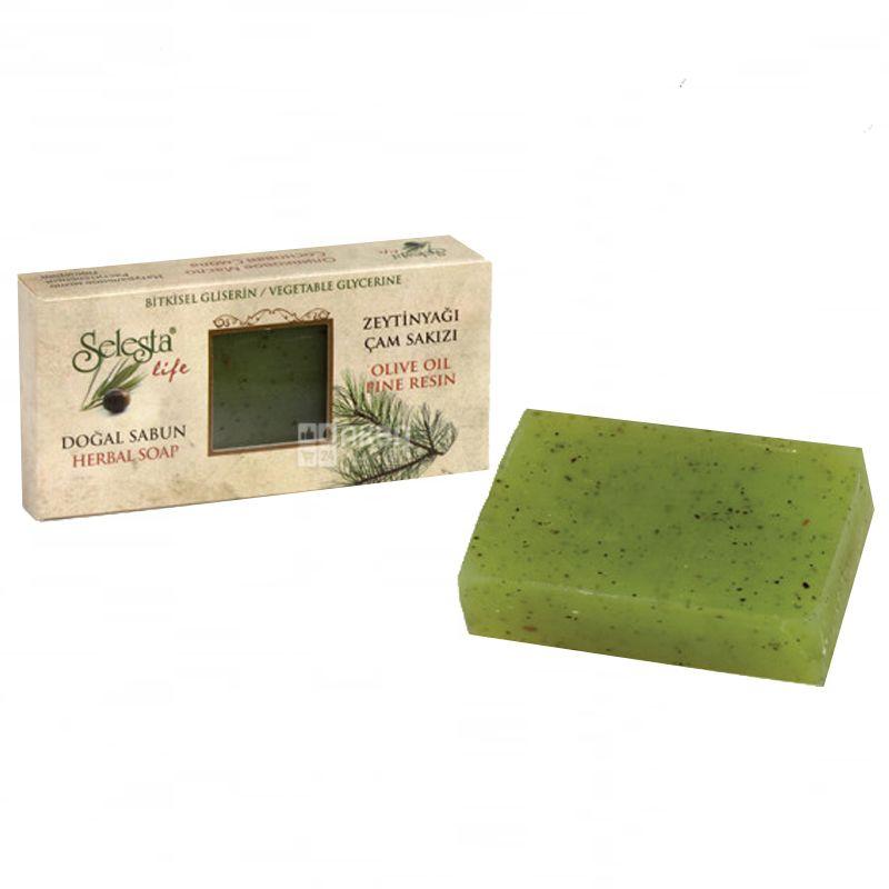 Selesta, 100 г, Мыло натуральное, природный глицерин, оливковое масло и хвойная смола