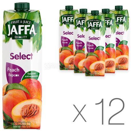 Jaffa, Select, Персиковый, Упаковка 12 шт. по 1 л, Джаффа, Нектар натуральный